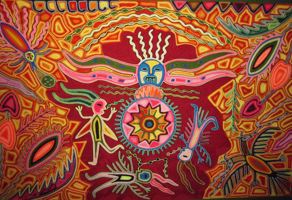 nierika, arte huichol representando portal sagrado