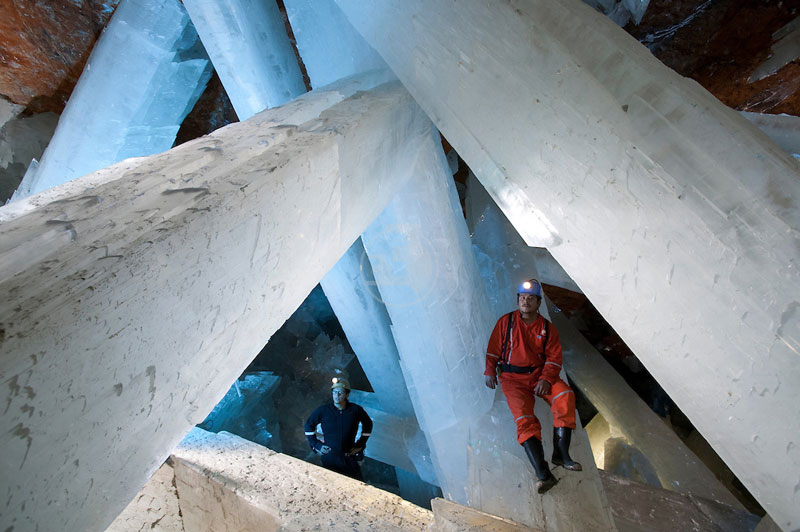 Foto de la cueva de cristales naica en chihuahua mexico