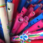 El colorido es una explosión que, más allá del juguete, invita a lo lúdico.