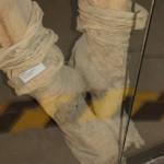 El calzado de algunas de las momias destaca por la sofisticación de su diseño.