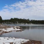 El lago de Arareco, muy cerca de Creel y el Valle de los Monjes.