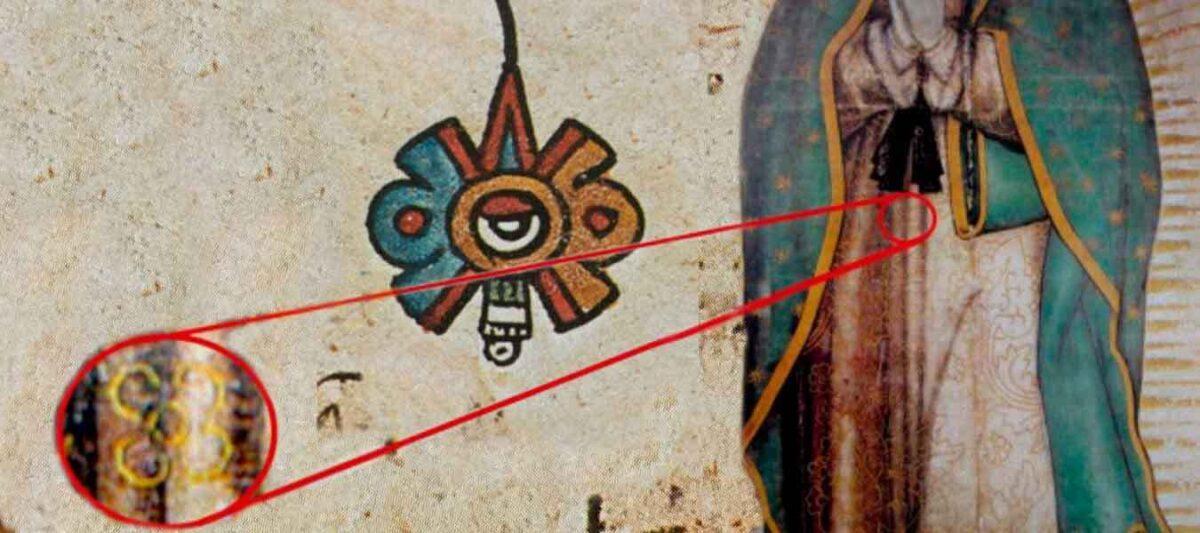 manto de virgen, sol azteca, virgencita