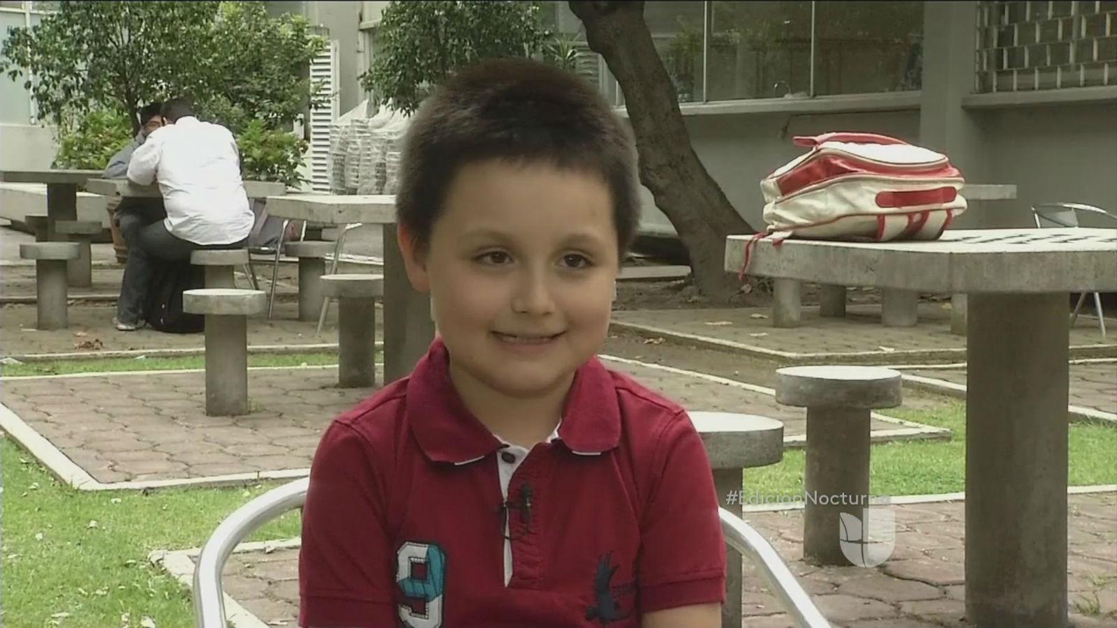 Carlos Santamaría Díaz niño mexicano estudia UNAM