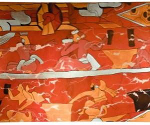 mural bebedores del pulque cholula