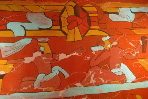 mural bebedores de cholula