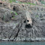 la máscara roca isla espíritu santo baja california
