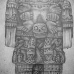 Coatlicue diosa mexica de la fertilidad, patrona de la vida y de la muerte.