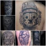 Distintas representaciones de deidades y mandatarios (Pakal, Tláloc, dios de la muerte, etc.)