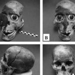 máscara cráneo aztecas