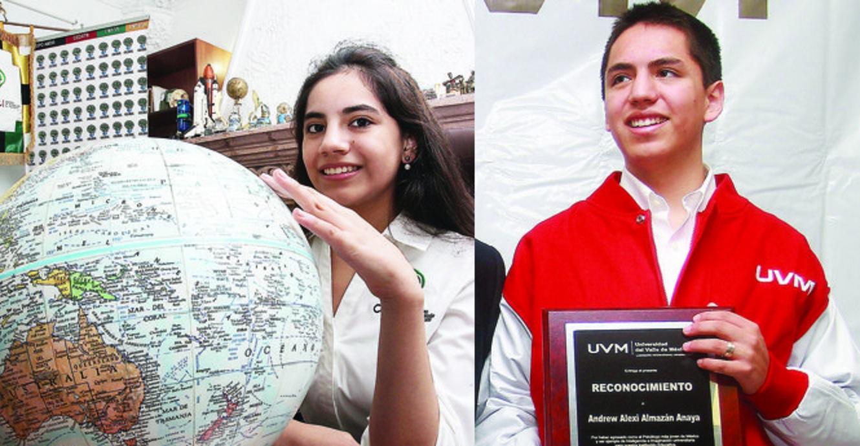 jóvenes superdotados dafne y andrew Almazán Anaya