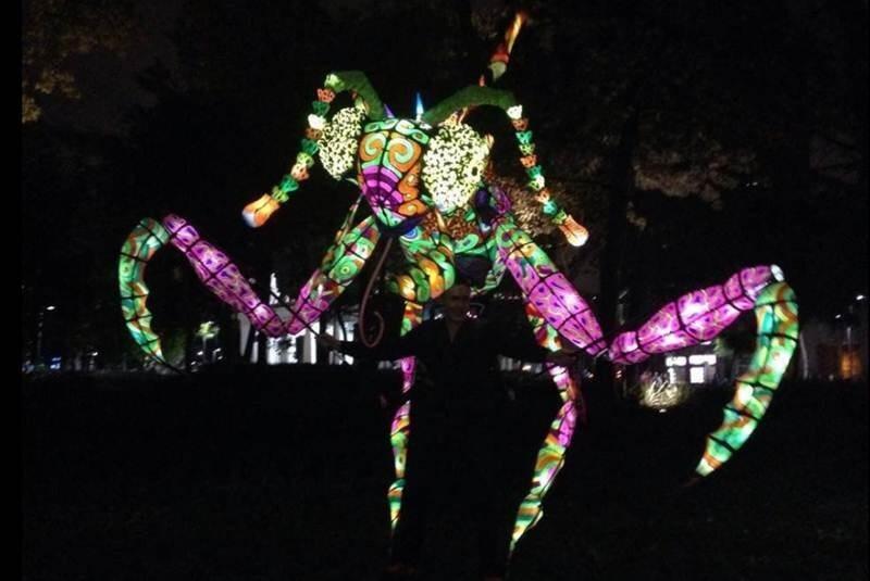 Los mega alebrijes iluminados del Museo de Arte Popular (FOTOS)