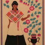 grabados trajes típicos mexicanos carlos mérida otomí de la sierra del estado de puebla