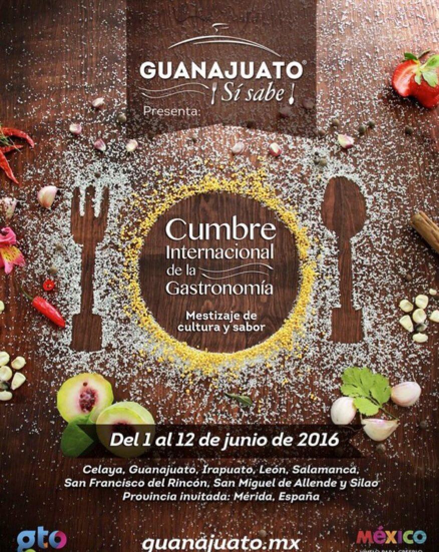 guanajuato sí sabe 2016 cumbre internacional gastronomía