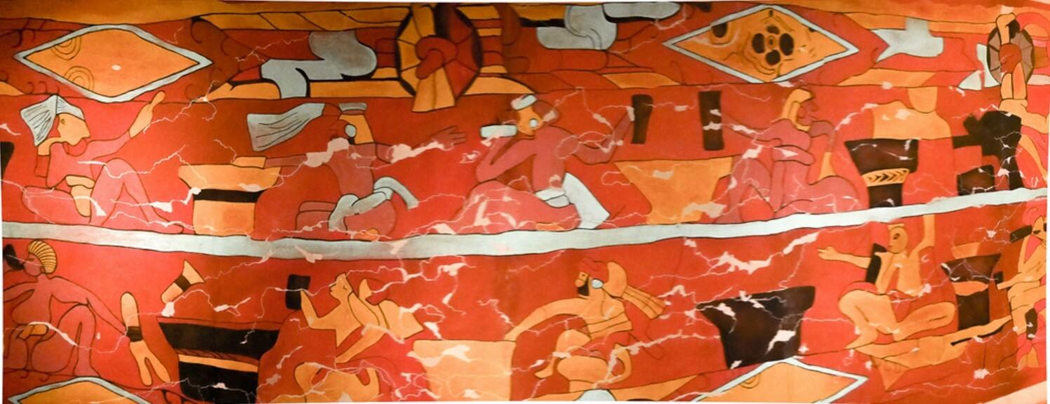 el mural de los bebedores de pulque cholula