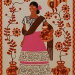 grabados Carlos Mérida trajes típicos mexicanos