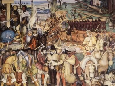 diego rivera mural la conquista palacio nacional