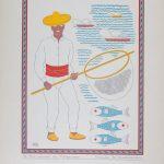 Carlos Mérida grabados serie trajes regionales mexicanos
