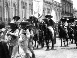 Ejército de Emiliano Zapata en la ciudad de México, en Coyoacán.