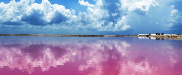 Laguna lago rosa yucatán