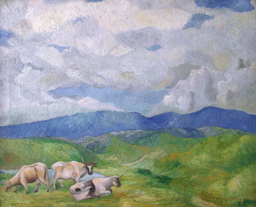 Vacas y Paisaje.
