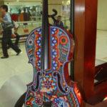 """Pieza expuesta en la exposición """"Música para un mundo mejor"""" exhibida en China. Foto: Notimex"""
