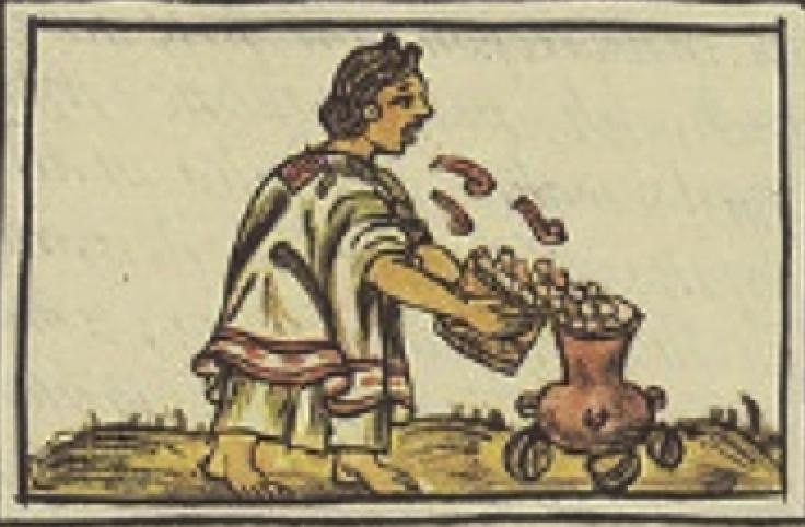 maíz siendo vertido para cocerse