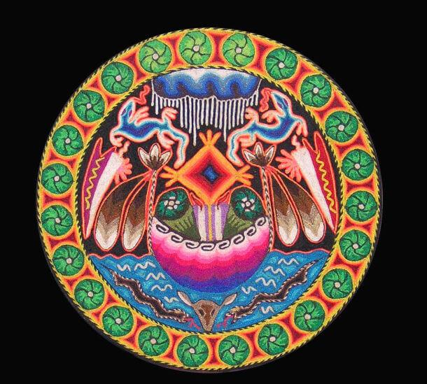 arte-huichol-lagartija