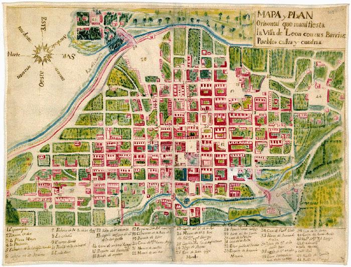 mapa-antiguo-leon-mexico-guanajuato