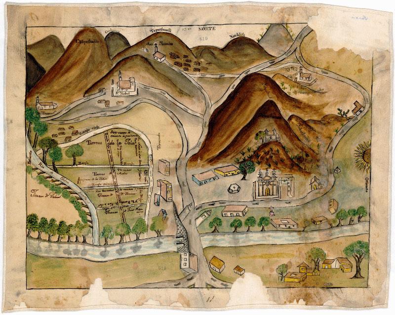 mapa-antiguo-mexico-cerro-tepeyac-virgen