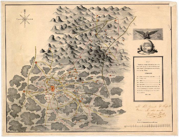 mapa-antiguo-queretaro-mexico