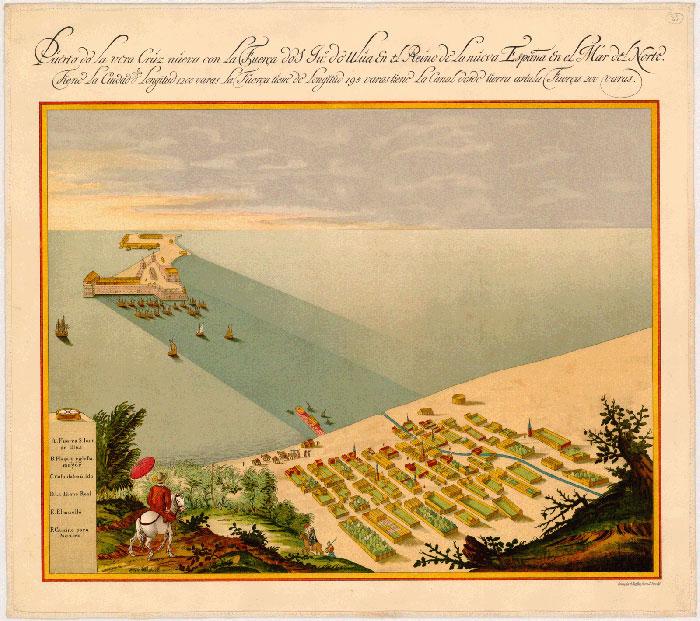 mapa-antiguo-veracruz-mexico-puerto