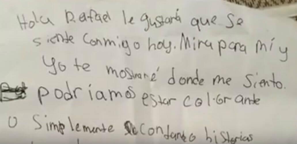 carta nina estadounidense migrante mexicano