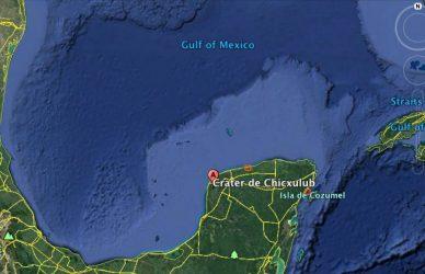 crater Chicxulub peninsula yucatan mexico
