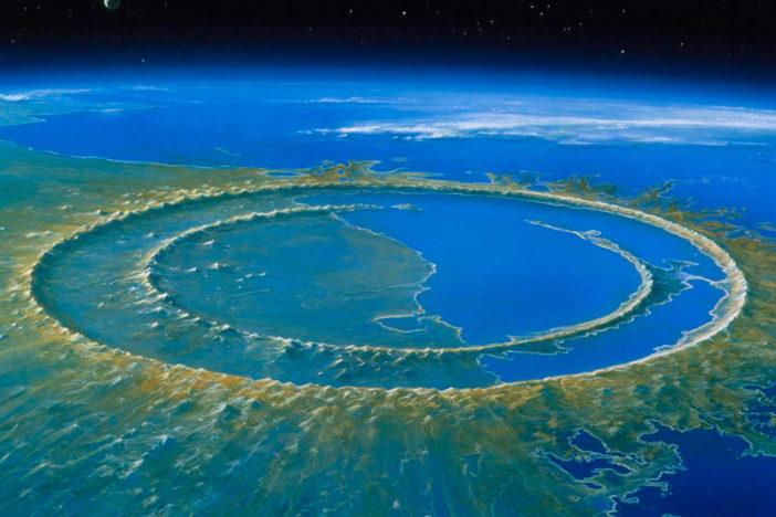 crater chicxulub peninsula yucatan meteorito mexico