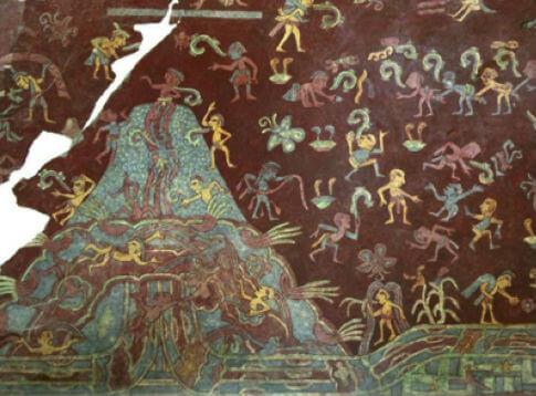 mural tlalocan aztecas despues de la muerte