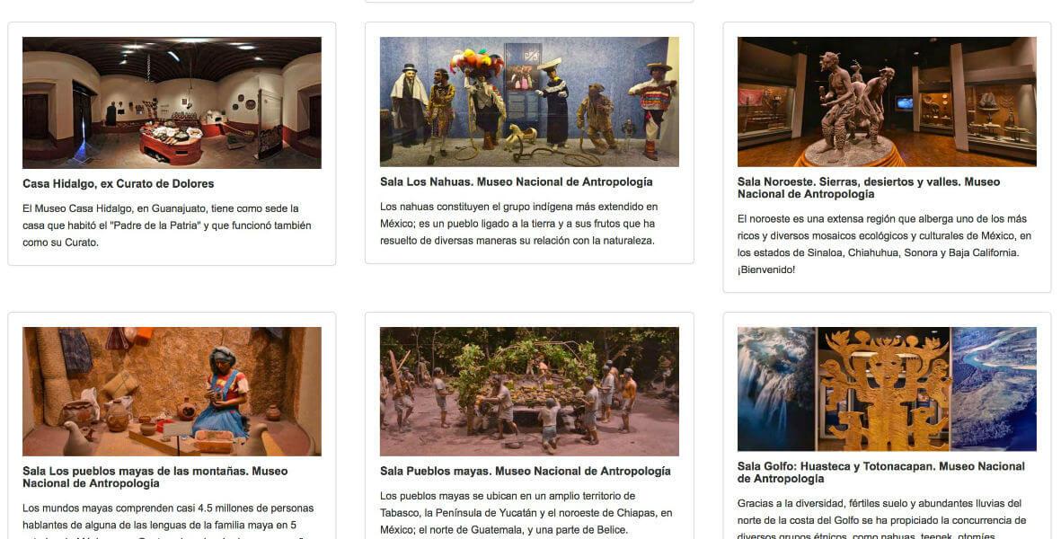 paseos virtuales museos inah