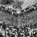 Miles de estudiantes congregados en la milenaria Plaza de las Tres Culturas antes de la lamentable represión.