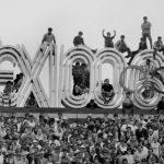 Miles celebrando el inicio de los juego Olímpicos México 1968.