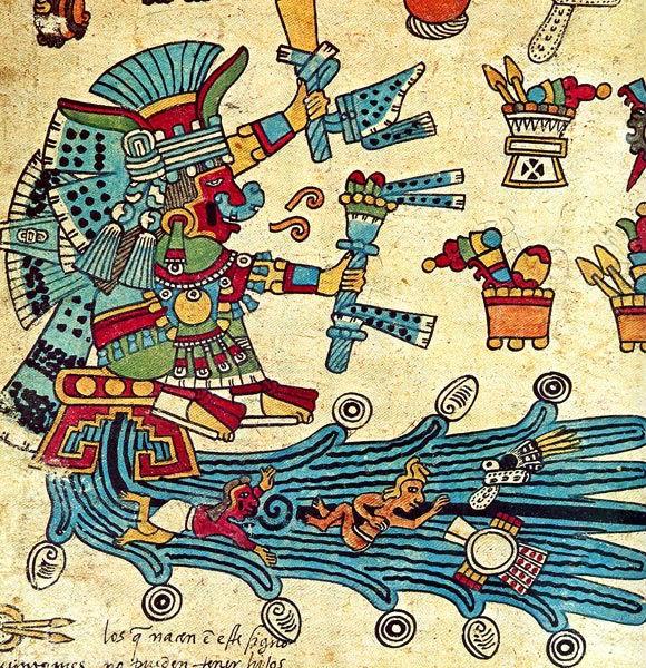 Chalchiuhtlicue diosa azteca del agua codigo borbonico nacimiento parto azteca mexica