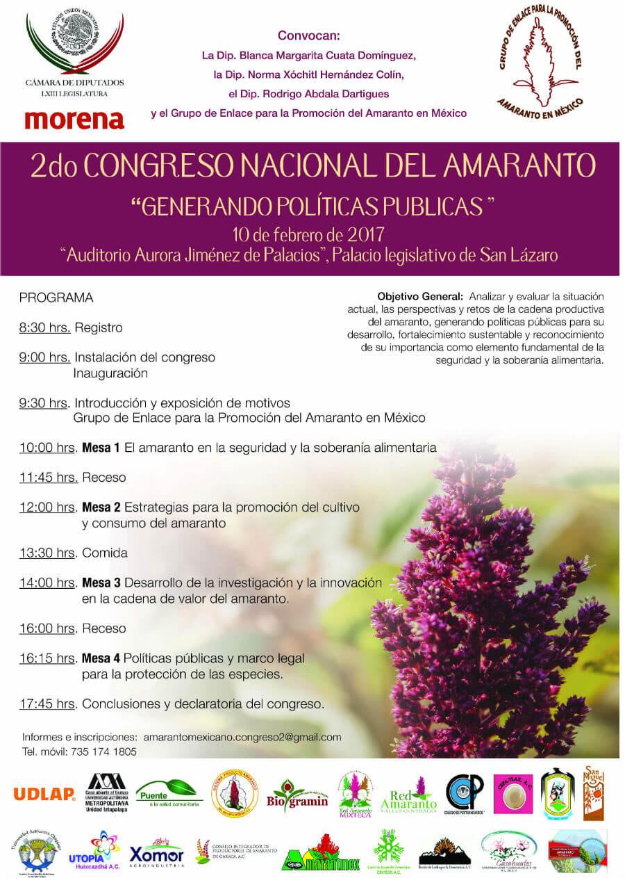 Congreso Nacional Amaranto 2017 cartel