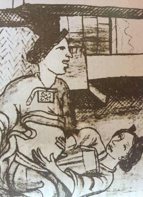 codice florentino partera bebe mexica