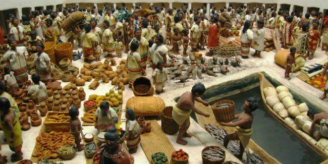 tianguis mexico prehispanico mercado de tlatelolco