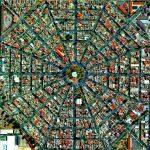 La colonia Plaza del Ejecutivo en la Ciudad de México. Foto: Daily Overview / Satellite images © 2015 DigitalGlobe.