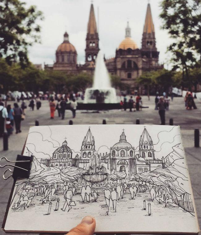 mexico en dibujos guadalajara