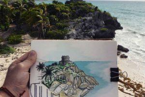 mexico en dibujos