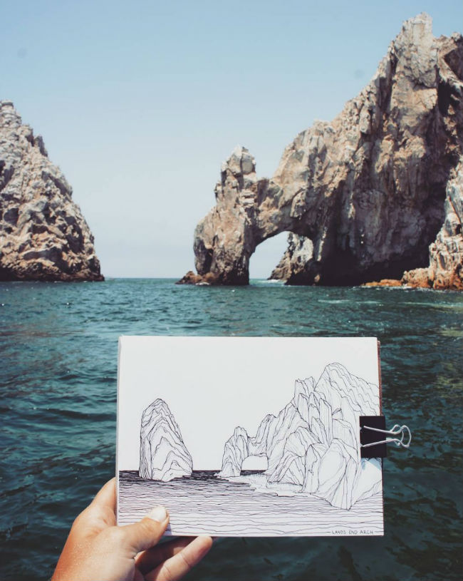 mexico en dibujos cabo