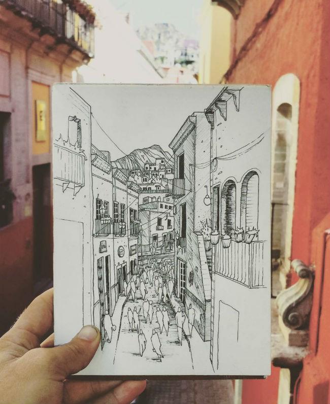 mexico en dibujos guanajuato