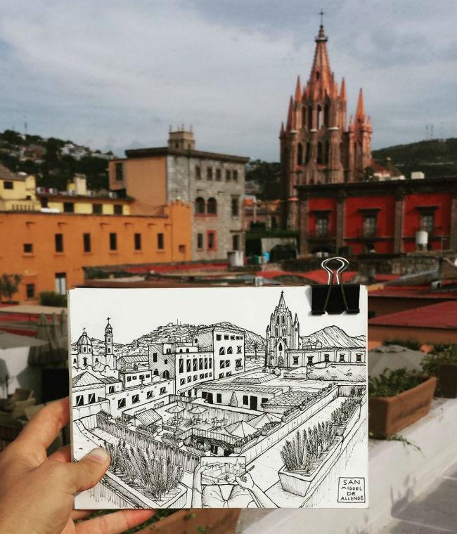 mexico en dibujos san miguel de allende