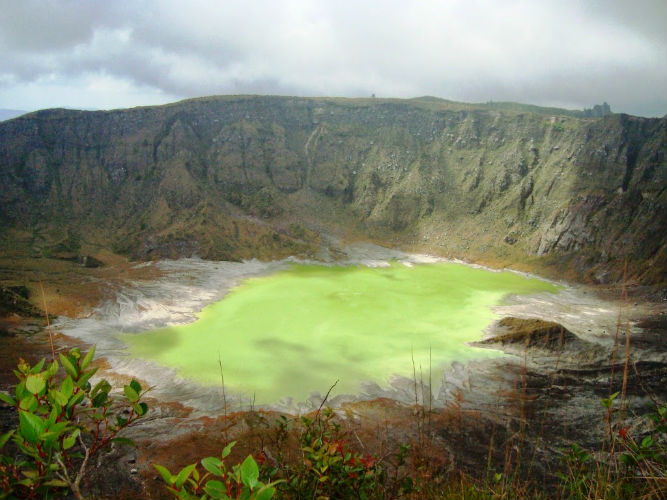 volcan chichonal chiapas crater