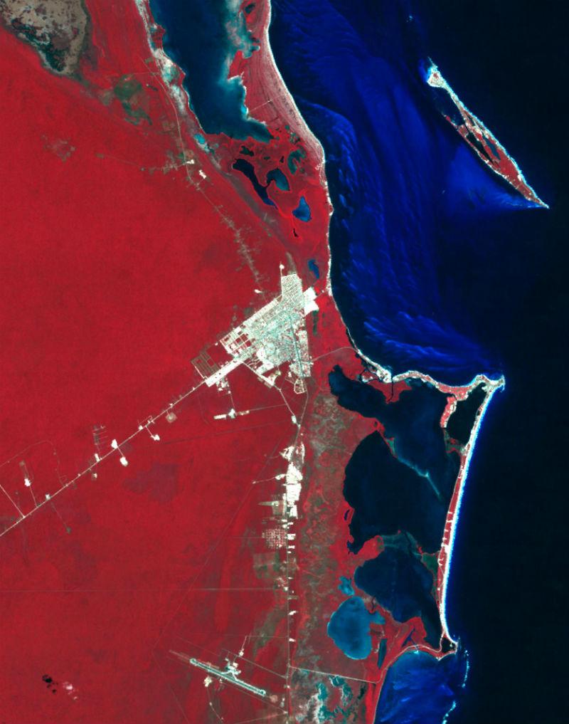fotos mexico desde el espacio cancun
